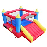 ACTION AIR Inflatable Castle House, Jumping Castle with Air Blower, Inflatable Castle for Outdoor and Indoor