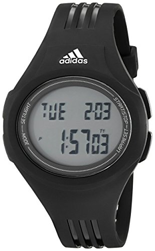 adidas Unisex ADP3159 Stainless Steel Watch With Black Polyurethane - Sport Adidas Buckle Performance