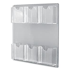 Amazon.com: Azar 252066 Six-Pocket Wall Mount Brochure Holder, 2 ...