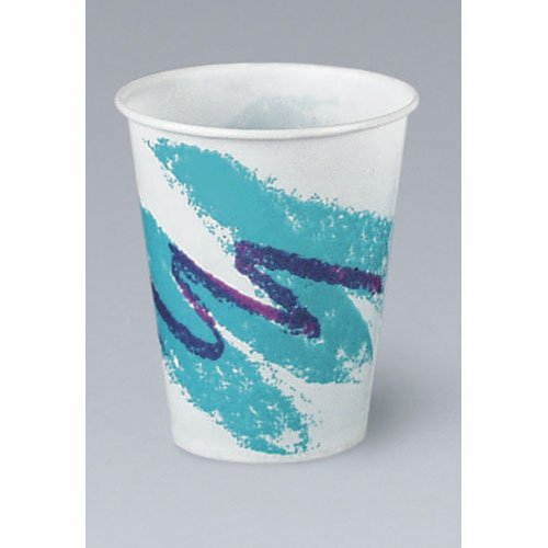 SCCRW16J - Solo RW16J Waxed Paper Cup w/Jazz Design, 16 Ounce 16 Ounce Jazz Design