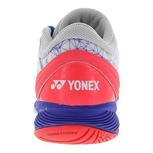 Yonex Women`s Power Cushion Fusionrev 2 Tennis Shoes White and Purple-(STFR2LWPU