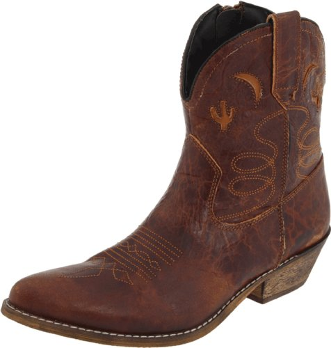 Dingo Women's Adobe Rose, Light Brown Distresssed, 7 C-Wide