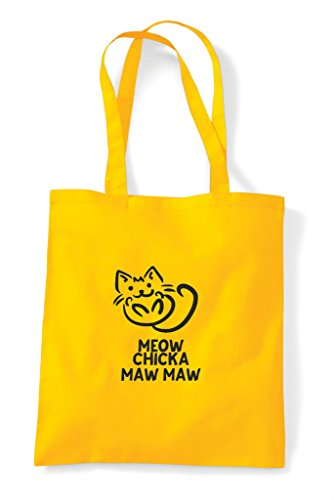 Meow Bag Yellow Maw Funny Chicka Tote Parody Shopper OTqg8O