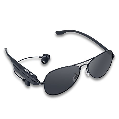Wireless Bluetooth V2.1+EDR Polarized Smart Sunglasses Headset Headphone Hands-Free Talk Voice Control for iPhone6s