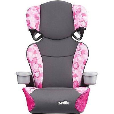 [Evenflo 2-in-1 Big Kid Sport High Back Booster Seat, Peony Playground] (Sunshine Kids Child Harness)