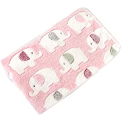 Smdoxi Dog Puppy Blanket Super Soft Warm Micro Fleece Plush Sherpa Pet Cat Throws Blanket Snuggle Cushion Mat for Small Animals (M, Pink)