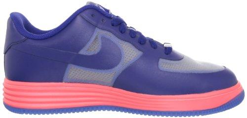 Nike Lunar Force 1Fuse Para Hombre Hyper Rojo/Piel de Color Negro Bajo Top Zapatillas, Color Multicolor, Talla 45 EU (M) Wolf Grey/Dp Ryl Blue-Atmc Rd