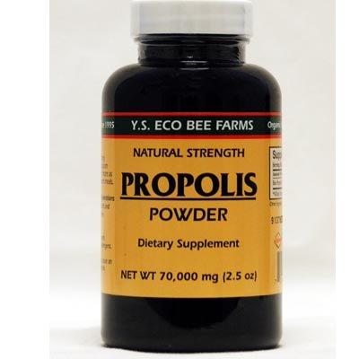 YS Royal Jelly/Honey Bee - Propolis Powder, 70,000 mg, 2.5 oz powder