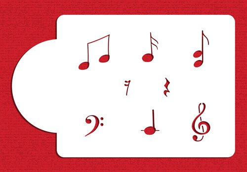 Musical Notes Set by Designer Stencils