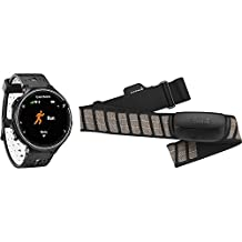 Garmin Forerunner 230 GPS Running Watch, Black/White Bundle