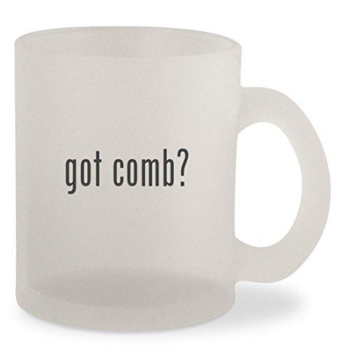 got comb? - Frosted 10oz Glass Coffee Cup Mug (Mug Rays Crystal)