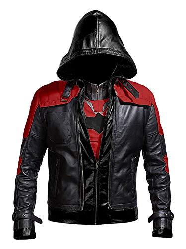 Lasumisura Replica Style Black Hood Men Vest and Jacket 2 in 1 - Medium]()
