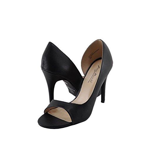 Womens Rapture DOrsay Open Toe Stiletto Heel Sandal Pumps Shoes Black WrNDkHFCik