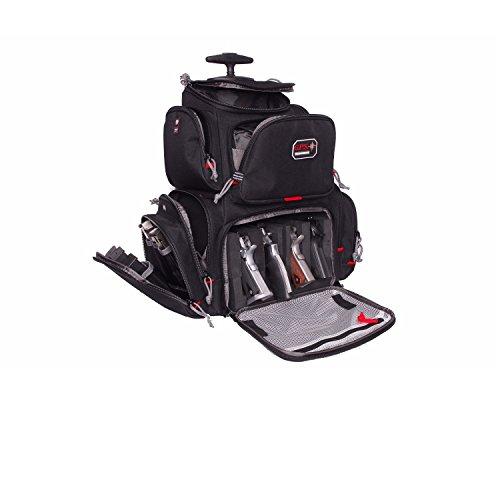 G.P.S. GPS-1711ROBP Rolling Handgunner Backpack, Black