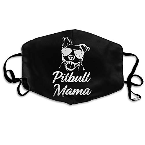 Pitbull Mama Mouth Mask,Anti Dust Face Mask,Washable Reusable Mouth Cover Masks White