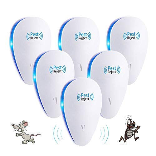 Ultrasonic Pest Repeller 6 Packs Electronic Pest Control Rep