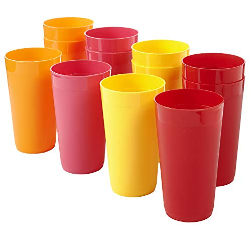 Newport 20-ounce Unbreakable Plastic Tumblers   set of 12 in 4 Candy Colors