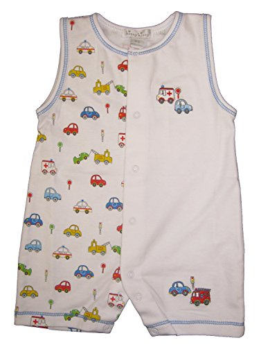Kissy Kissy Baby-Boys Infant Rush Hour Print Sleeveless Short Playsuit