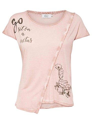 Camiseta Only Lea Rosa Rosa