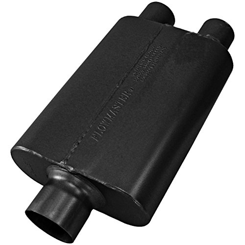 (Flowmaster 8430402 40 Delta Muffler 409S - 3.00 Center IN / 2.50 Dual OUT - Aggressive Sound)