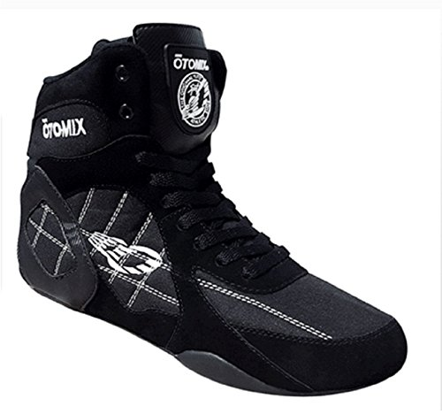 Otomix Men's Warrior Bodybuilding Boxing Weightlifting MMA Shoes Black 10.5