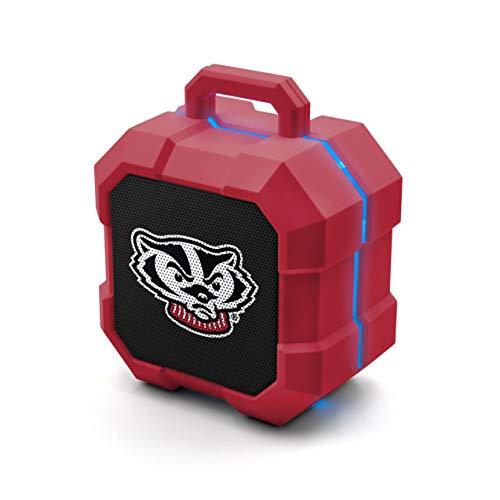 NCAA Prime Brands Group  Shockbox LED Wireless Bluetooth Speaker, Wisconsin Badgers