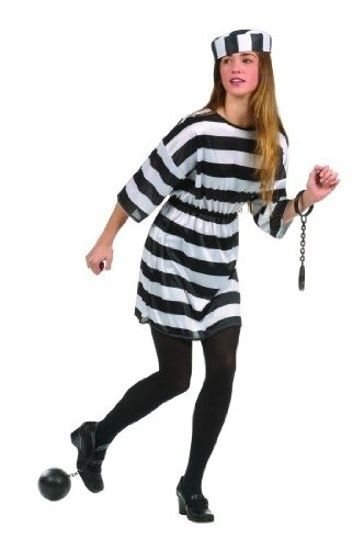 Convict Girl Teen Costume Size 16-18