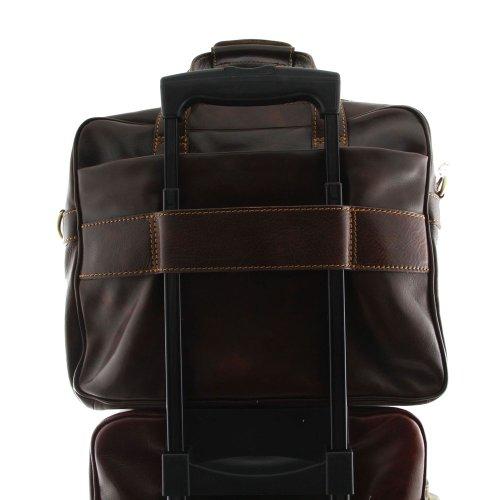 Tuscany Leather - Serviette cuir - Marron foncé - Homme