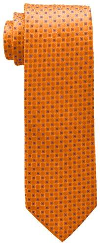 Tommy Hilfiger Men's Core Neat I Tie, Orange, One Size