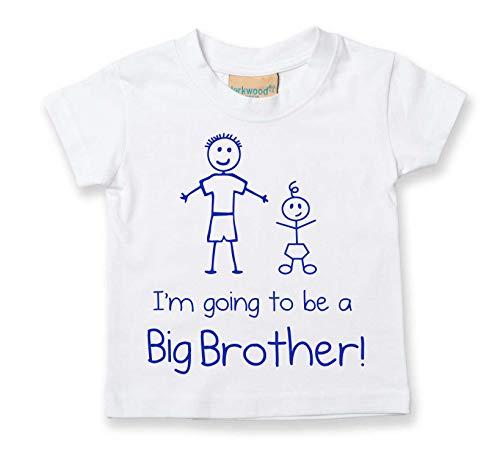 18 en White tallas camiseta a Voy Blanco ser de 6 0 Toddler regalo Brother 24 la meses Toddler Baby disponible Big Nuevo wgq70R