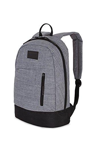 SwissGear Melrose Backpack, Black Cod/ Grey Heather, One ...