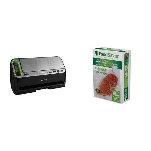 FoodSaver Vacuum Sealing System V4440 & 44 Quart Vacuum Seal Bags