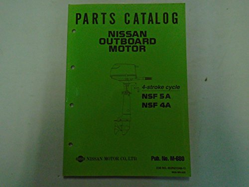 Nissan Outboard Motor NSF 4A 5A Parts Catalog Manual FACTORY OEM Book Used ***