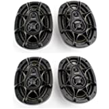 4) New KICKER DS693 6x9 560W 3-Way Car Audio Coaxial Speakers Stereo 11DS693