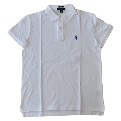(Polo Ralph Lauren Womens Classic Fit Cotton Mesh Polo Shirt White M)