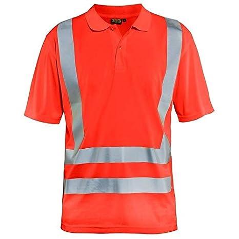 blakläder 339110115500 X XXL Polo Camiseta, Rojo de advertencia ...