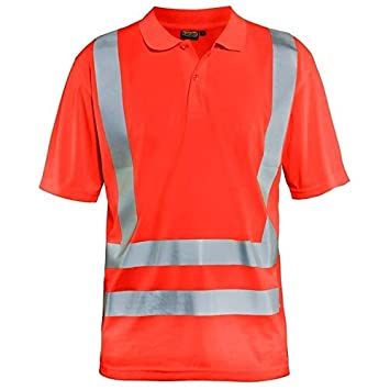 blakläder 339110115500 M Polo Camiseta Advertencia de, Rojo, M ...