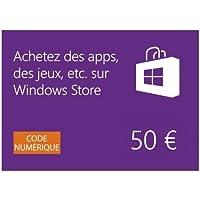Windows Store - Carte Cadeau de 50 EUR [Code Digital] [Code Jeu ]