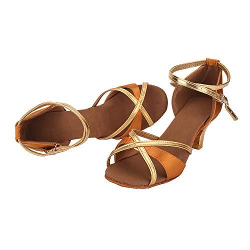 5cm 5cm Standard TRIWORIAE da Beige Donna 7cm Tacco Scarpe da Tacco Ballo Ballo Latino Sala apv6awTq