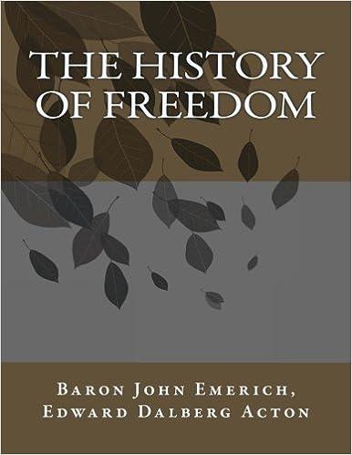The History Of Freedom John Baron Emerich Edward Dalberg Acton