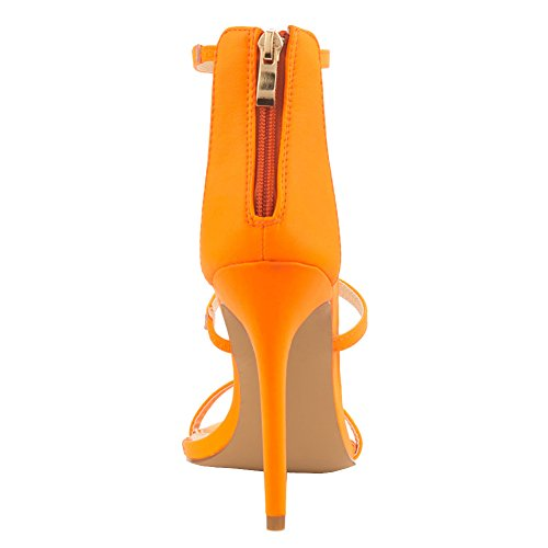 EKS - Sandalias de vestir de Material Sintético para mujer naranja