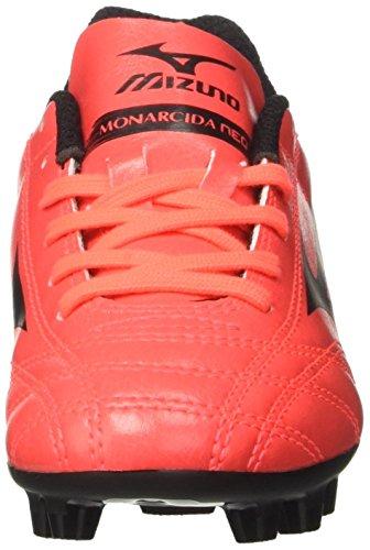 Mizuno Monarcida Neo Md Jnr - Zapatillas de fútbol Unisex Niños Multicolore (FieryCoral/Black)