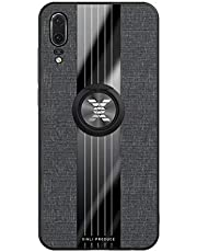 Fanxwu Cover Compatible con Funda Huawei Mate 20 Ligero Tejido Case con 360 Grados Rotaria Kickstand Protección Resistente Anti-Huella Dactilar Carcasa - Negro