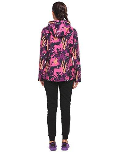 de Impermable A Veste Femme Violet Coupe Rose et Veste Camouflage Capuche Zeagoo Pour Vent Motif Printemps Pluie 40SwqxngnE