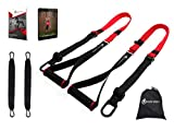 INTENT SPORTS Bodyweight Fitness Resistance Trainer Kit with Pro Straps for Door Pull up Bar, Anchor Point, Lean, Light, Durable for Complete Body Workouts, E-Book & 77 Workout Videos (Patent Pending)