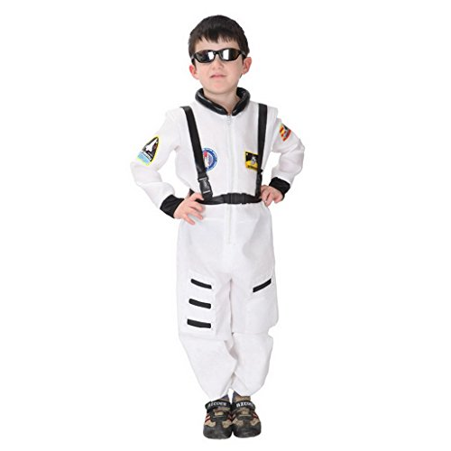 [Happy Cherry Astronaut Kids Cosplay Holloween Masquerade Party Costume Suit Size XL] (Spaceman Suit Costume)