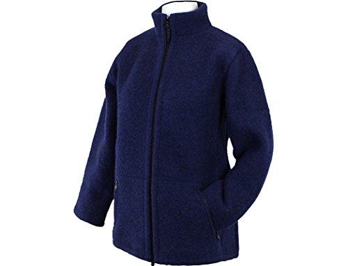 Mufflon Mel, Damenjacke mit Stehkragen Nachtblau