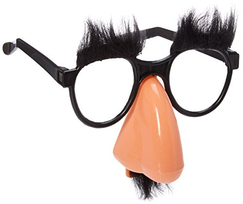 Bagvhandbagro Funny Glasses Toys, Fuzzy Nose and Glasses Classic Disguise