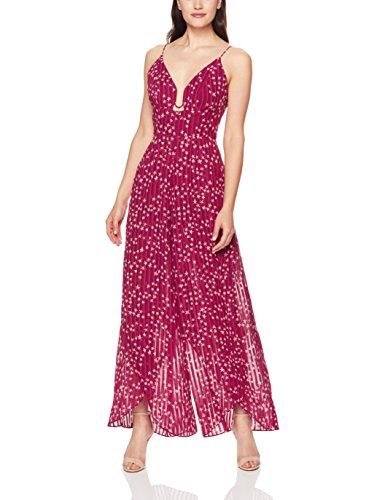 findersKEEPERS Women's Twilight Sleeveless V Neck Wide Leg Jumpsuit, Cherry Star, S ()