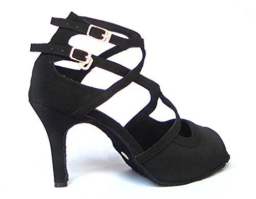 TDA - Zapatos con tacón mujer negro (Suede Black)